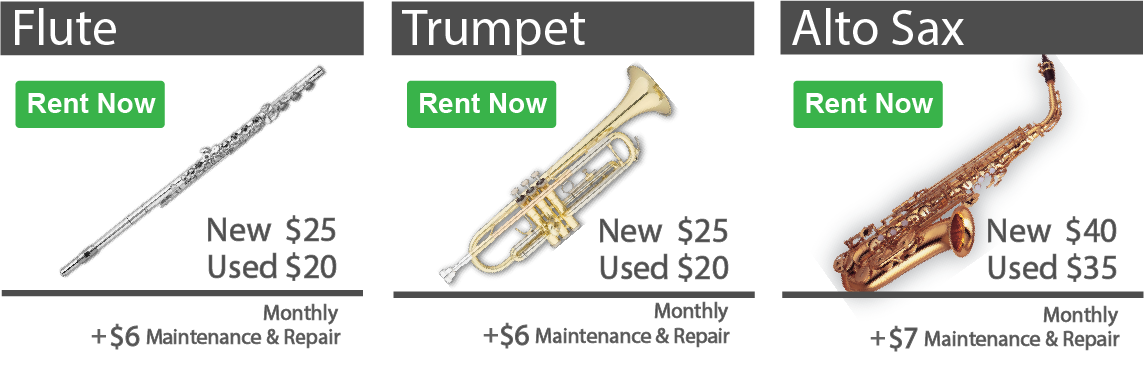 Rent to own band and orchestra instruments