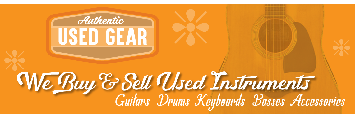 We buy and sell used instruments and gear