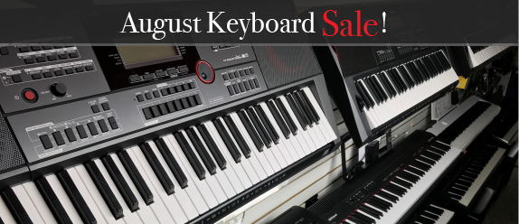 All Keyboards on sale through August