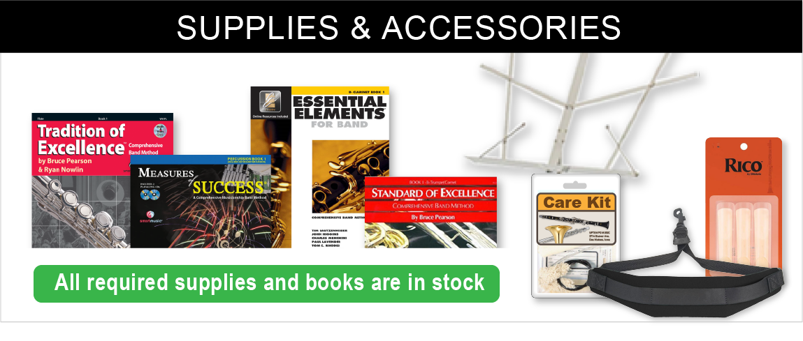 We stock all the supplies and books you need