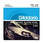 D'Addario EJ60 5-String Banjo Strings, Nickel, Light, 9-20