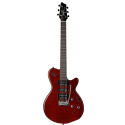 EG Godin xtSA Leaftop Dark Trans Red w Bag