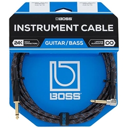 "Boss 15' 1/4"" Right Angle-Straight Instrument Cable"