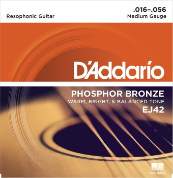Resophonic Guitar Strings D'addario Phos Bronz